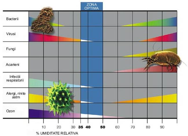 bacteriile si umiditatea